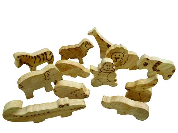 Wooden Animal Set Safari and Farm