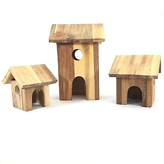 Natural Wooden House Set
