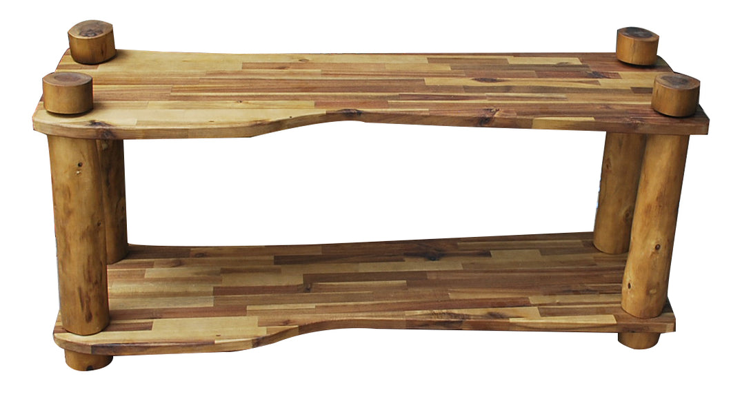 Natural Tree Branch Shelf 2 Tier