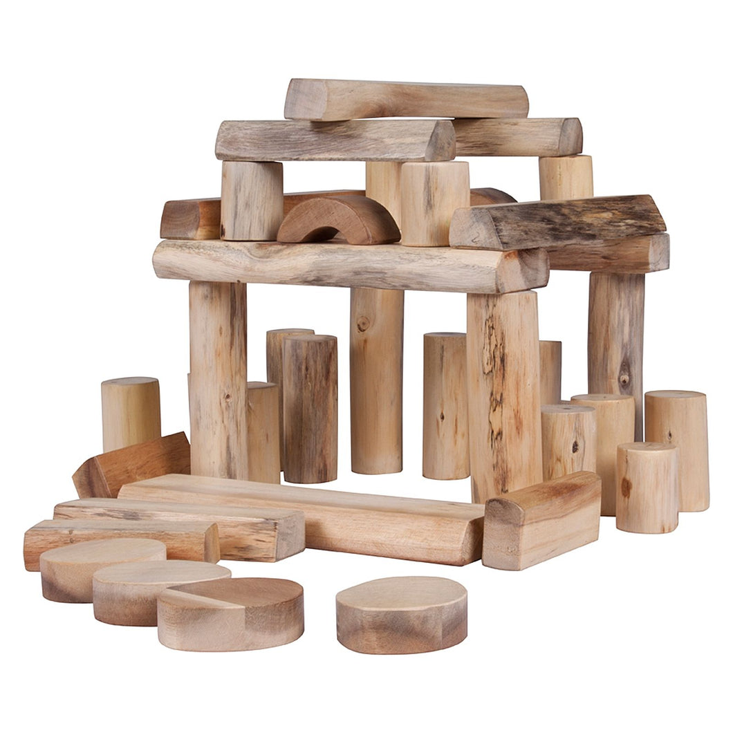 Natural Tree Block Set Barkless