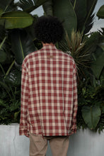 Load image into Gallery viewer, Raw Edge Flannel Shirt Red