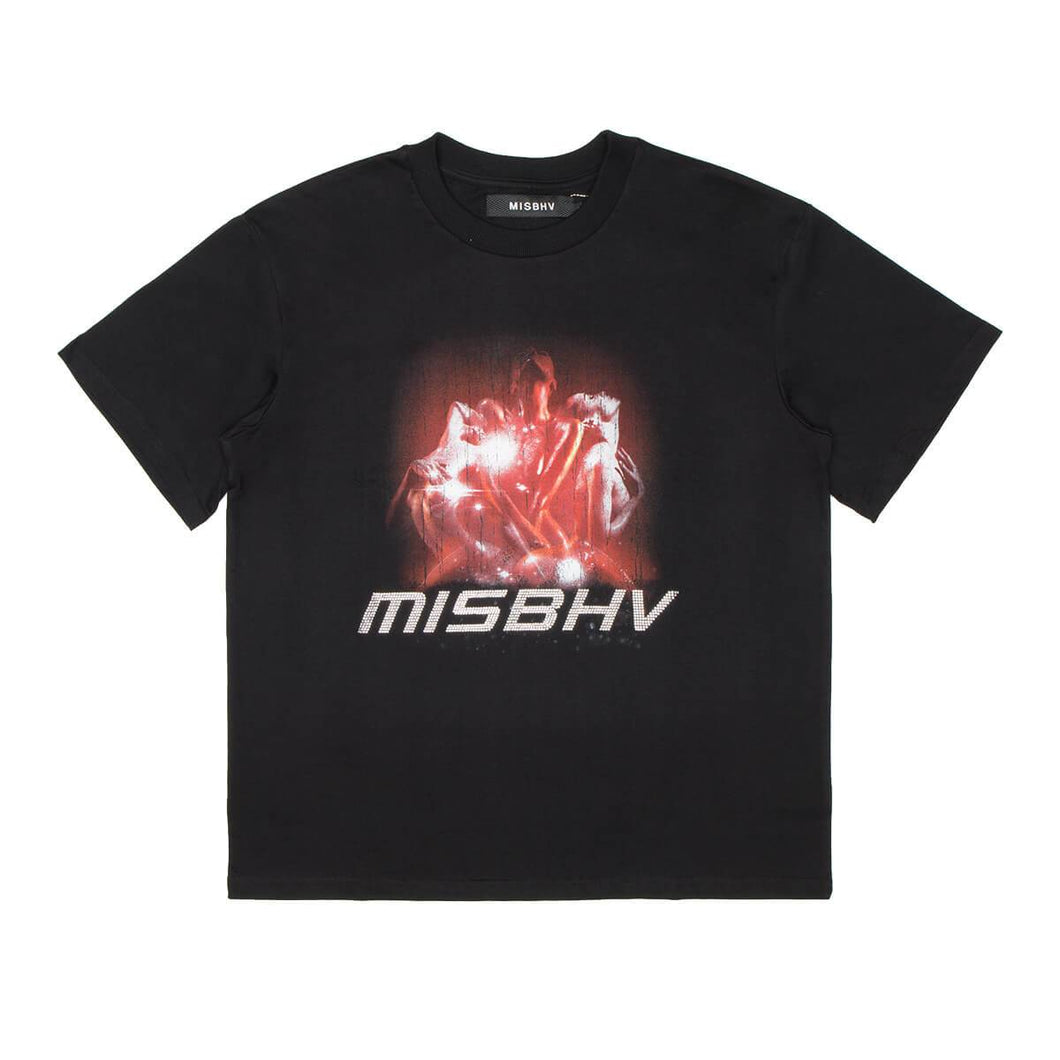 Black 2001 Crystals T-Shirt