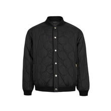 Load image into Gallery viewer, Oval Logo Quilted Bomber Black Jacket