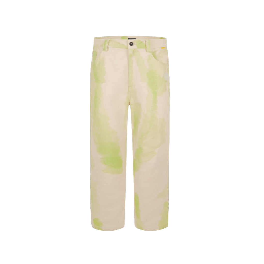 Brush Graffiti Twill Pants