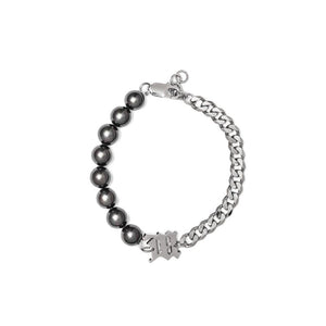 The Black M Pearl + Curb Link Bracelet