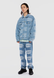 Oval Logo Truck Denim Jacket