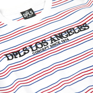 Multi Stripe Tee White
