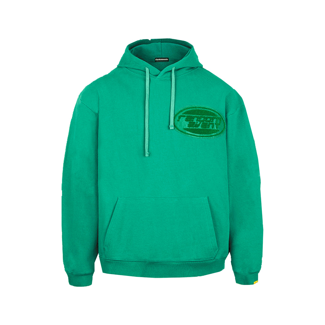 Towelling Oval Logo Hooded Sweatshirt