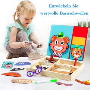 Frohland™ Holz Magnetic Puzzles Puzzlespiele