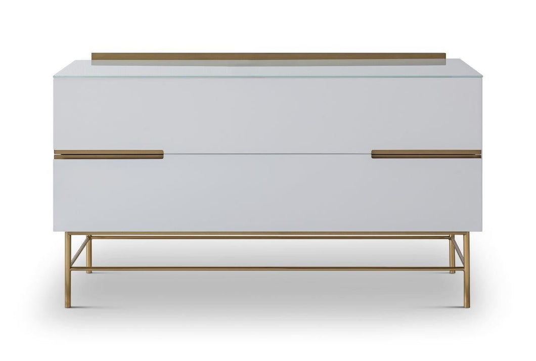 Gillmore ALBERTO TWO DRAWER LOW SIDEBOARD - kudo Lounge
