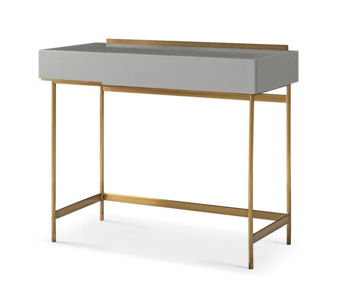 Gillmore ALBERTO Dressing Table Grey With Brass Accent - kudo Lounge