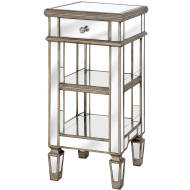 Hills Belfry Mirrored Side Table One Draw Luxury Handcrafted Perfection - kudo Lounge