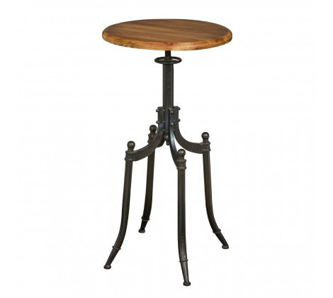 Premier Housewares Foundry Drinks Bar Table Dark Industrial Style Finish - kudo Lounge