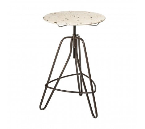 Premier Housewares Artisan Adjustable Cream Finish Bar Table Tripod Frame - kudo Lounge