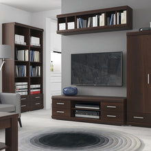 Load image into Gallery viewer, Furniture To Go Imperial Wide 4 Drawer TV Cabinet in Dark Mahogany Melamine
