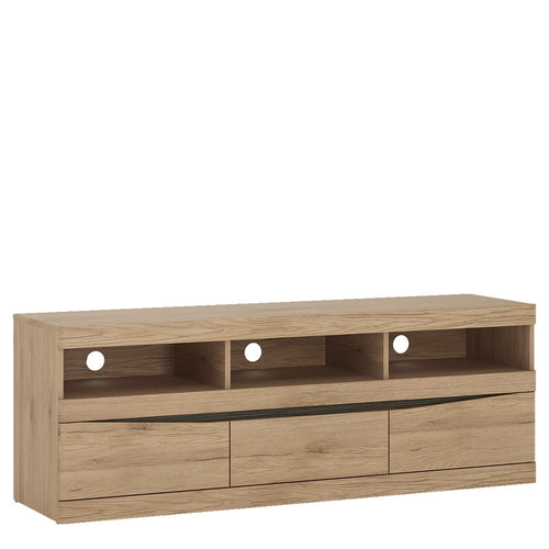 Furniture To Go Kensington Wide 3 drawer TV unit in Oak