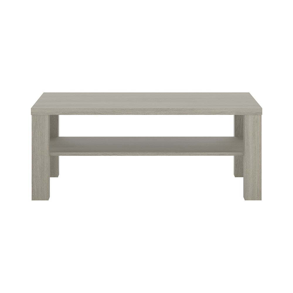 Furniture To Go Madras Large Coffee Table with shelf in Champagne Melamine