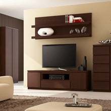 Load image into Gallery viewer, Furniture To Go Pello 2 Door 1 Drawer Wide TV Cabinet in Dark Mahogany