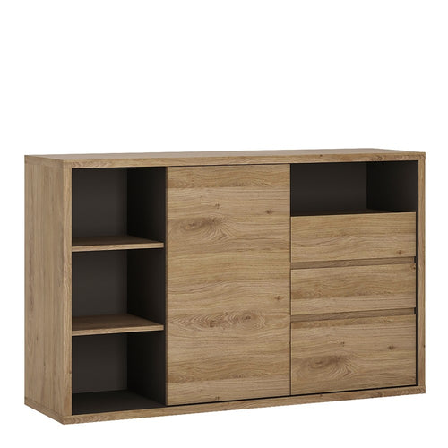 Furniture To Go Shetland 1 Door 3 drawer sideboard