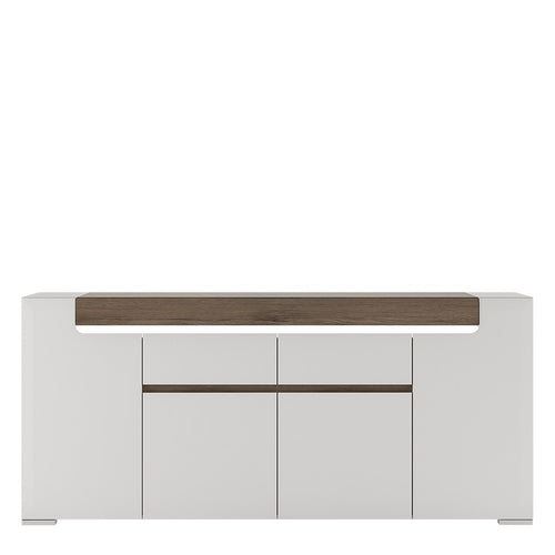 Furniture To Go Toronto Wide 4 Door 2 Drawer Sideboard (inc. Plexi Lighting)