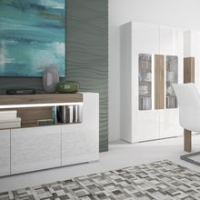 Load image into Gallery viewer, Furniture To Go Toronto 3 Door Sideboard with open shelving (inc. Plexi Lighting)