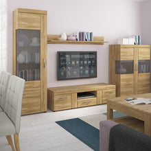 Load image into Gallery viewer, Furniture To Go Cortina 2 door 1 drawer wide TV cabinet in Grandson Oak