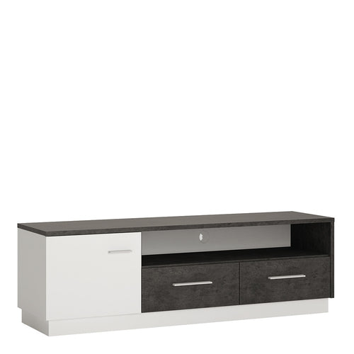Furniture To Go Zingaro 1 door 2 drawer wide TV cabinet