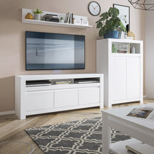 Load image into Gallery viewer, Furniture To Go Novi 3 Door TV Cabinet in Alpine White