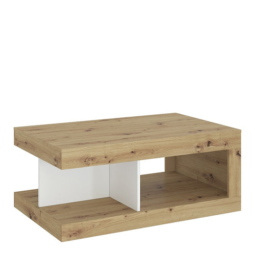 Furniture To Go Luci Coffee table in White, Oak and Platinum