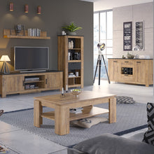 Load image into Gallery viewer, Furniture To Go Rapallo 2 door 2 drawer sideboard with wine rack in Chestnut and Matera Grey