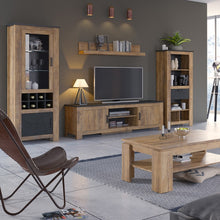 Load image into Gallery viewer, Furniture To Go Rapallo 2 door wide TV cabinet in Chestnut and Matera Grey