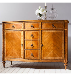 Gallery Direct Spire Handcrafted Wax Finish 6 Drawer 2 Door Sideboard - kudo Lounge