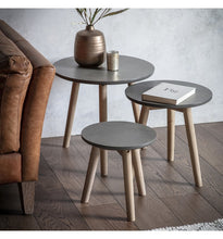 Load image into Gallery viewer, Gallery Direct Hudson LivingScandinavian Bergen Grey Nest Tables - kudo Lounge