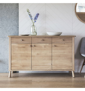 Gallery Direct Wycombe 3 Door 3 Drawer Sideboard - kudo Lounge