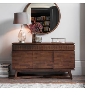 Gallery Direct Boho Retreat 3 Door 2 Drawer mango wood Sideboard - kudo Lounge
