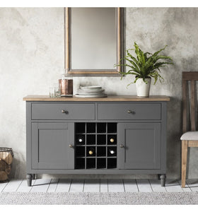 Gallery Direct Cookham Large Sideboard Grey With Drinks Cabinet - kudo Lounge