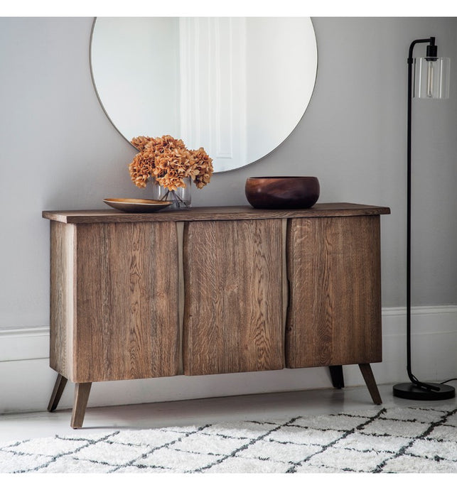 Gallery direct Foundry Oak Wood Sideboard With Storage - kudo Lounge