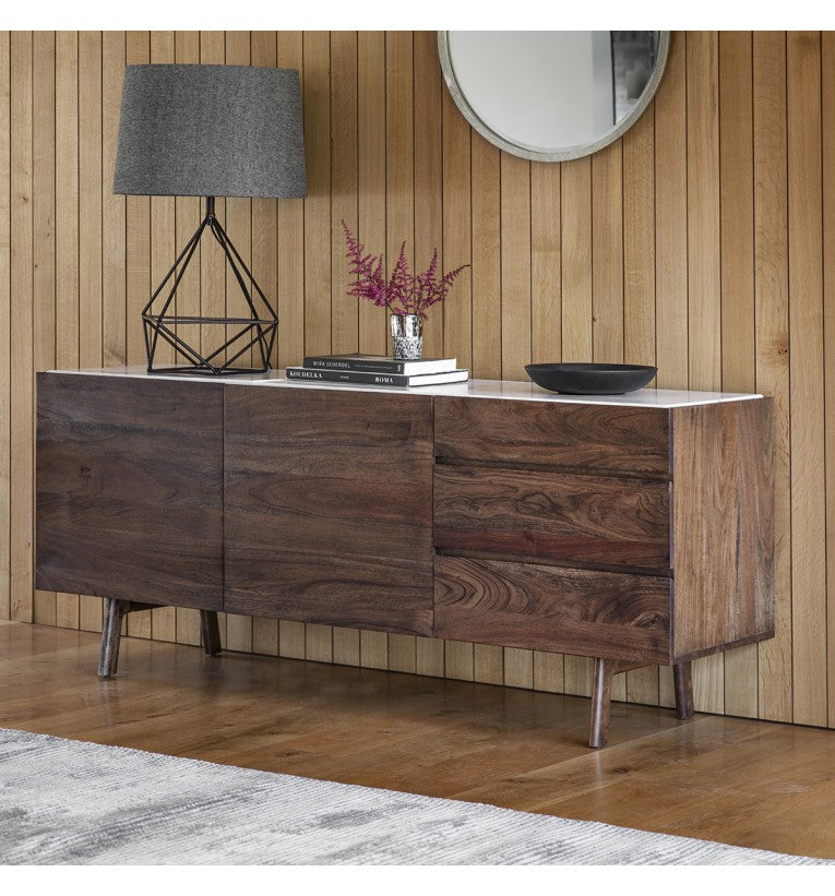 Gallery Direct Barcelona Sideboard White Marble Top - kudo Lounge