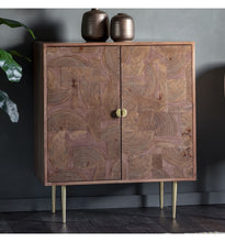 Load image into Gallery viewer, Gallery Direct Ontario Acacia Wood Veneer 2 door Drinks Cabinet - kudo Lounge