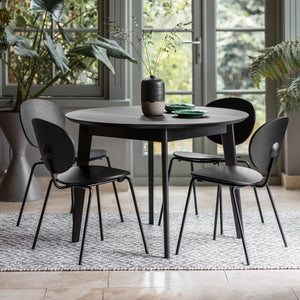 Gallery Direct Round Forden Dining Table Oak Finish - kudo Lounge