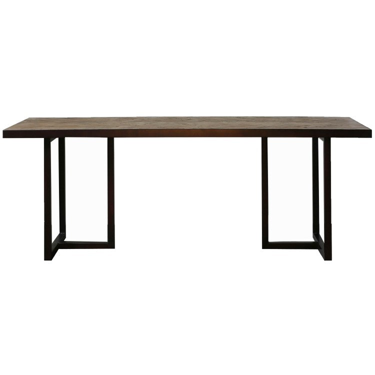 Gallery Direct Parquet Dining Table metal frame base - kudo Lounge