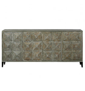 Gallery Direct Hackney 4 Door Sideboard With unique Rustic Detailing - kudo Lounge