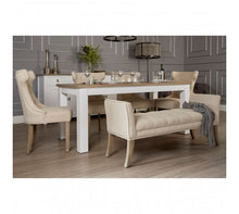 Load image into Gallery viewer, Premier Housewares Hampstead Oak Top / White Dining Table