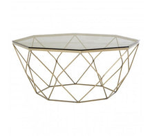 Load image into Gallery viewer, Premier Housewares Allure Coffee Table With Brushed Nickel Base