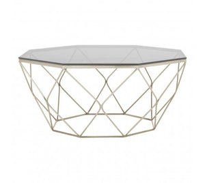 Premier Housewares Allure Coffee Table With Brushed Nickel Base