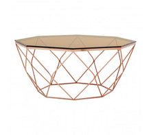 Load image into Gallery viewer, Premier Housewares Allure Coffee Table With Rose Gold Base