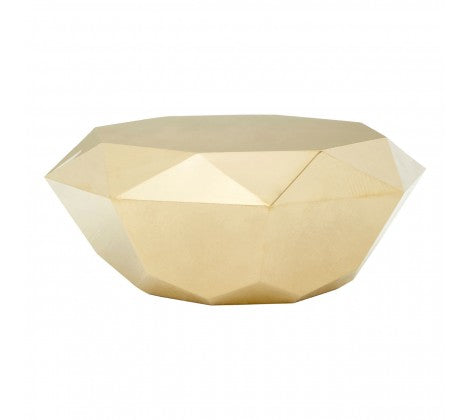 Premier Housewares Allure Champagne Diamond Cut Coffee Table