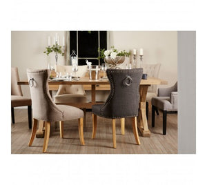 Premier Housewares Lyon Aged Grey Dining Table