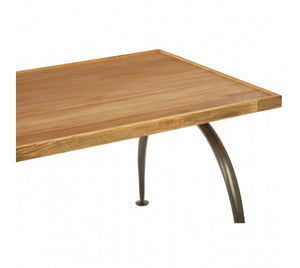Premier Housewares New Foundry Dining Table With Elm Wood Top