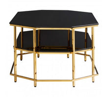 Load image into Gallery viewer, Premier Housewares Arezzo Black Tempered Glass Coffee Table